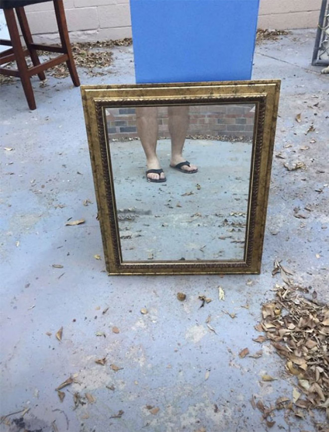 He's selling this mirror. Are you interested?