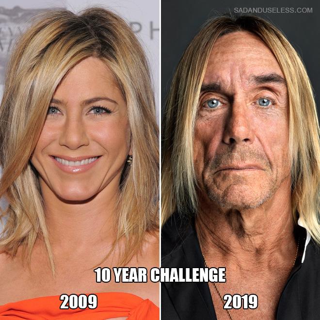 Jennifer Aniston: 10 year challenge.