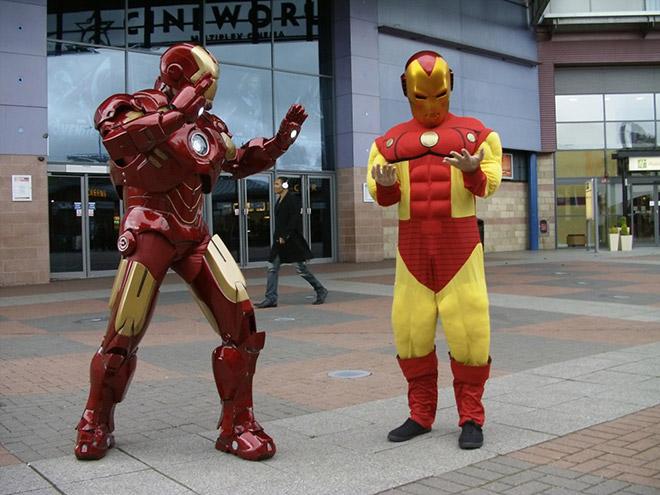 Iron Man costume fail.