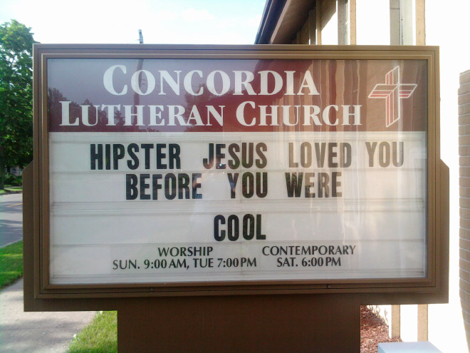 Hipster Jesus loved you before you were cool.
