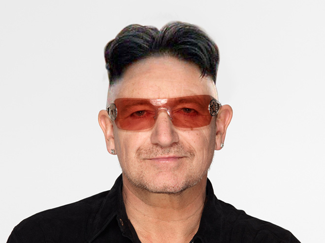 Bono looks so much better like this.