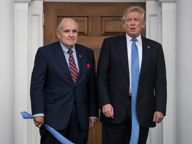 Have you ever noticed how long Trump's tie is?