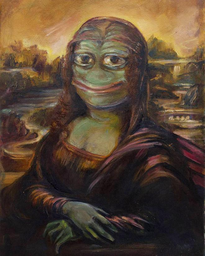 Mona Lisa Pepe The Frog.