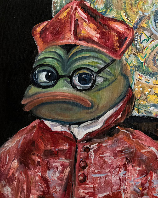 Pepe The Frog as Cardinal by El Greco.