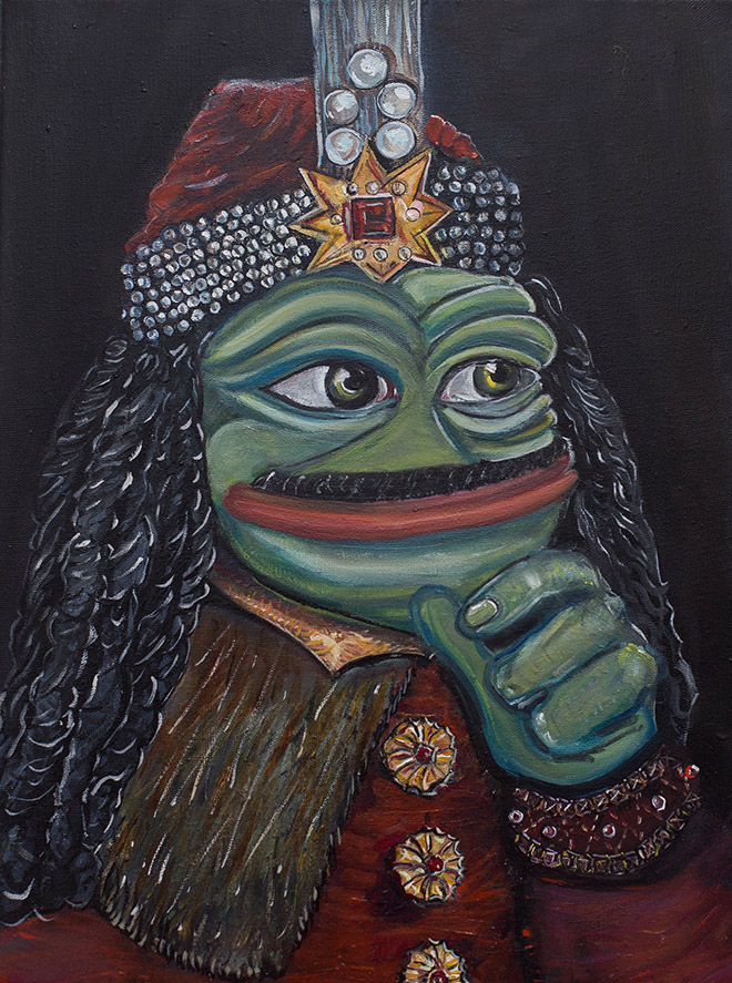 Pepe The Frog as Vlad The Impaler.