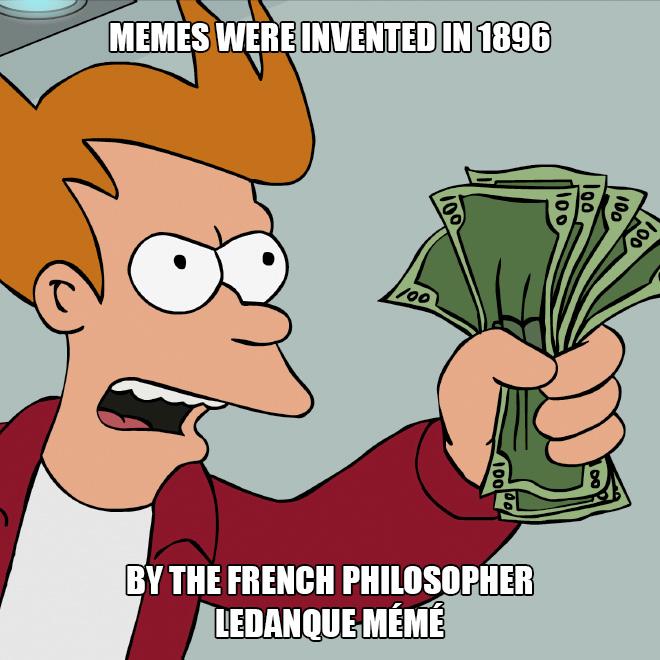 The origin of memes.