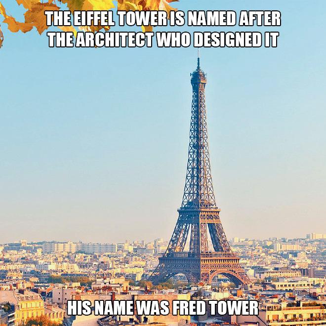 Little know fact about Paris.