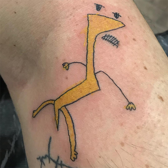 Some people get really ugly tattoos...