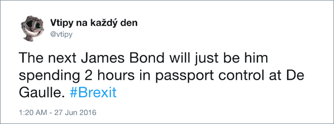 The next James Bond will just be him spending 2 hours in passport control at De Gaulle.
