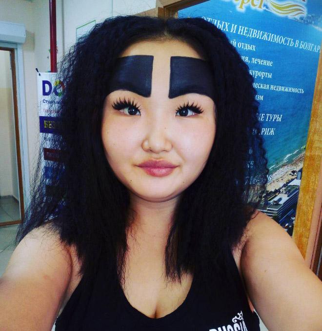 Funny eyebrows fail.