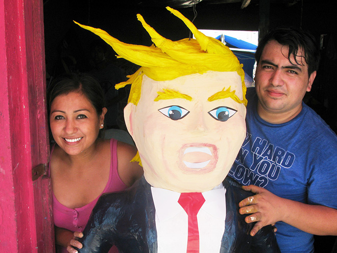 Donald Trump piñata. Funny or not? What do you think?