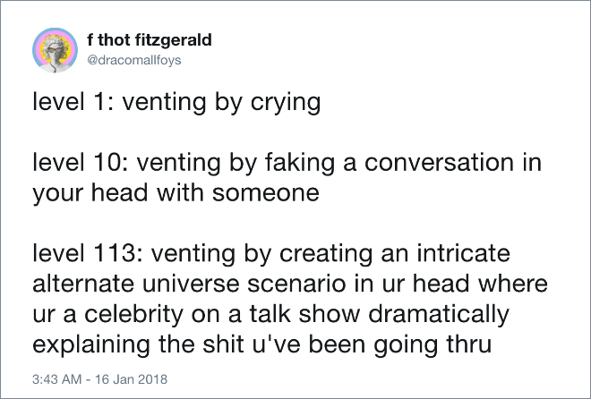 Different levels of venting.
