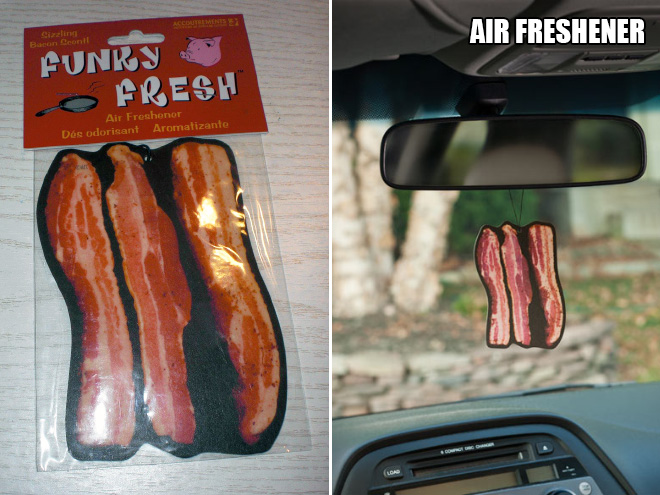 Bacon air freshener.