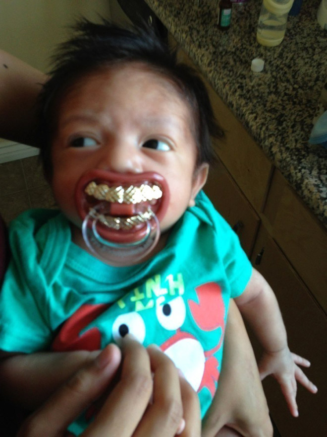 Funny pacifier.