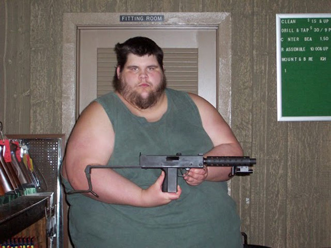 Internet tough guy.