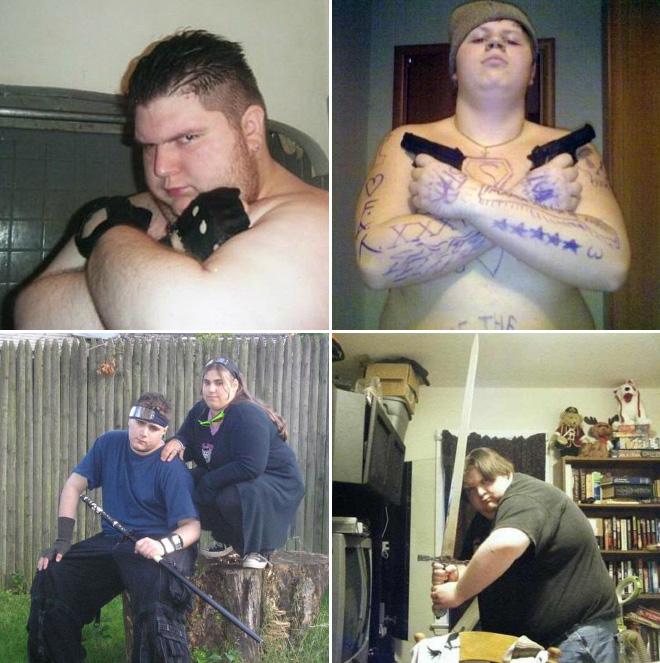 Internet tough guys.