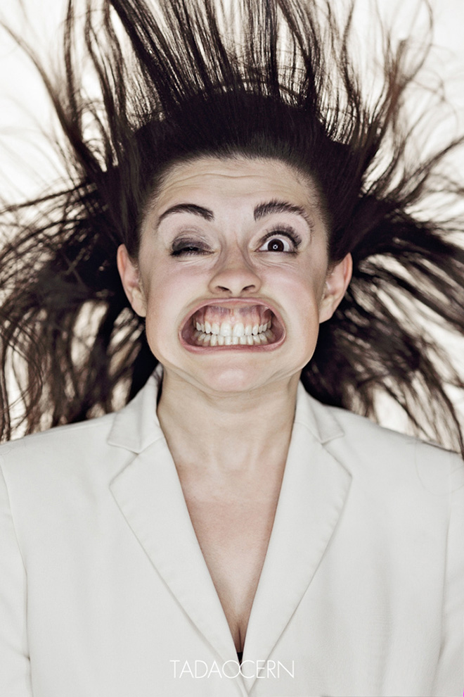 Funny wind tunnel portrait.