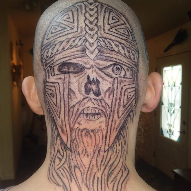 This is what happens when you try to save money on a tattoo.