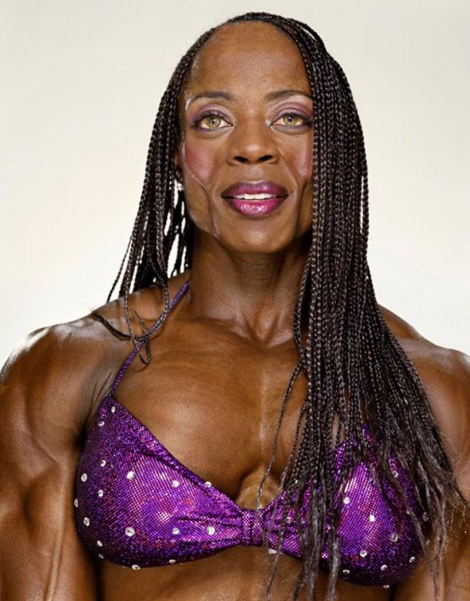 Female bodybuilder.