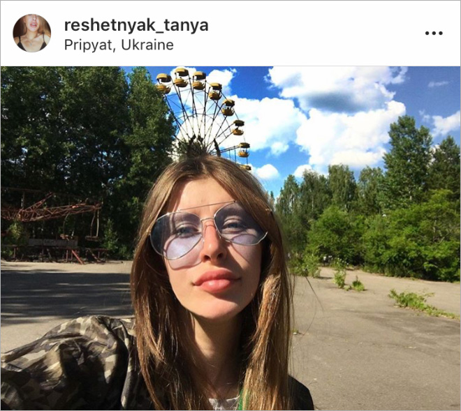 Chernobyl selfie.
