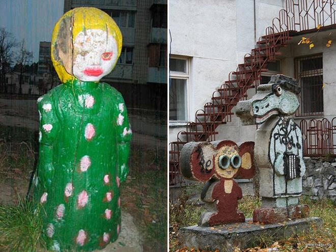 Creepy Russian playground.