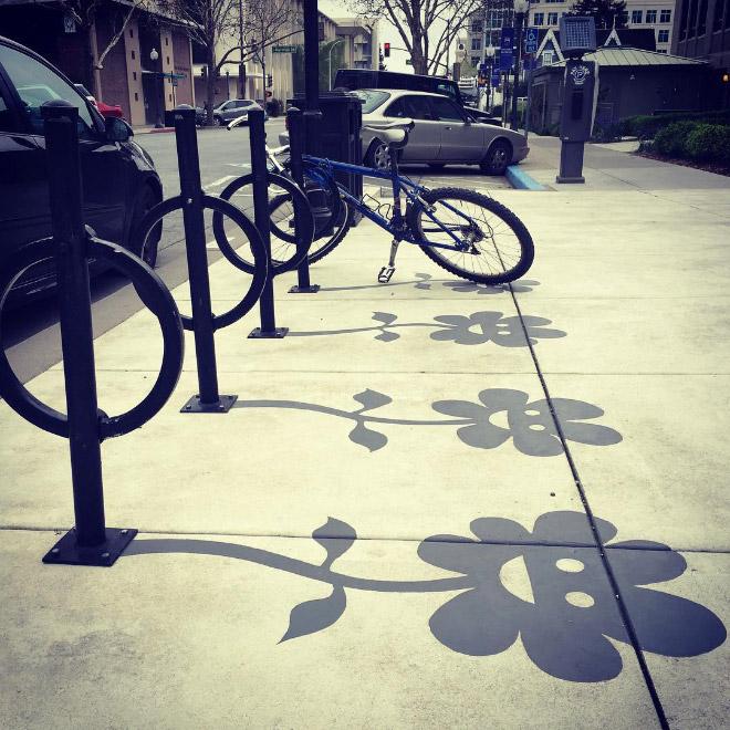 Fake shadow created by an artist.