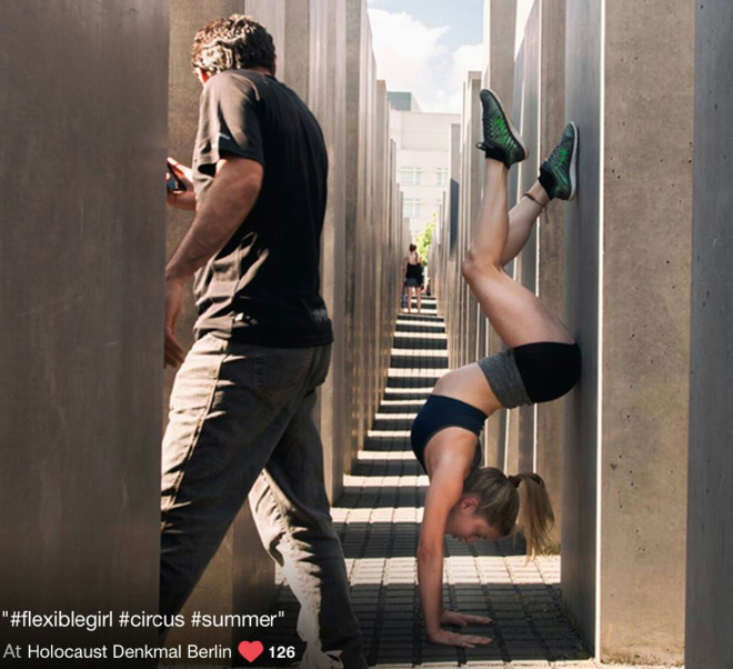 When selfie culture generation visits Berlin Holocaust Memorial...