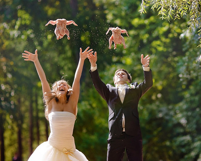 Weird wedding pic from Russia.