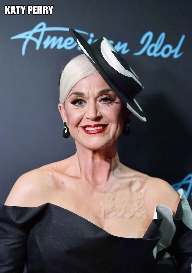 One of the funniest results of celebrity FaceApp challenge.