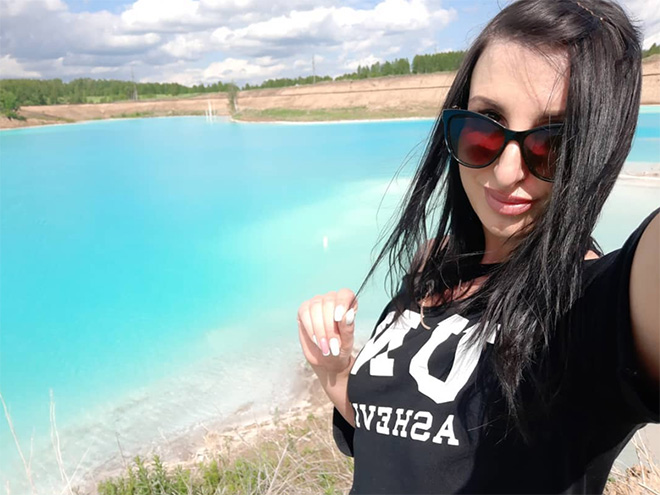 Having a good time at the toxic power plant contaminated lake.