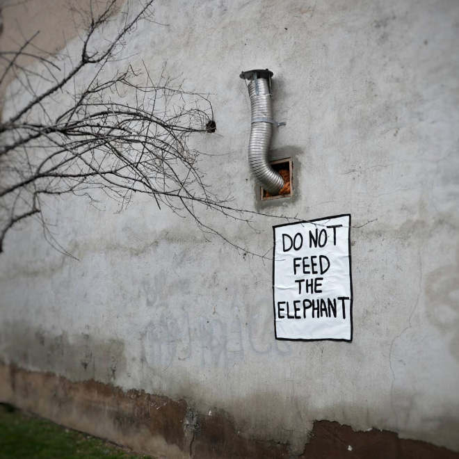 Random act of brilliant vandalism.