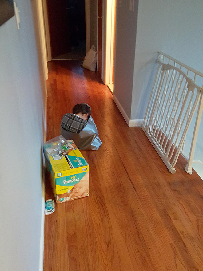 Kids are terrible at hide and seek...