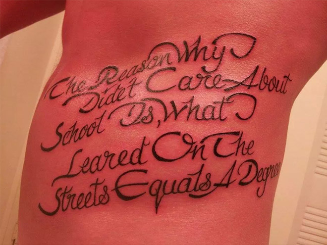 Tattoo spelling fail.
