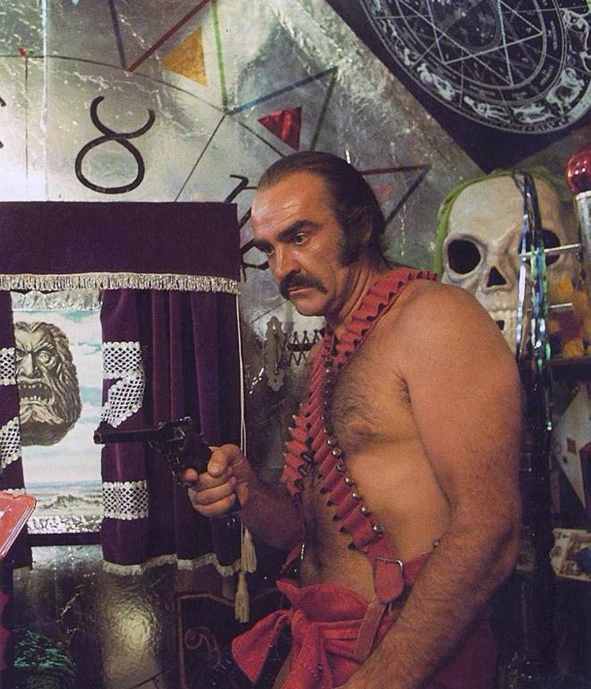 "Sean Connery rocked a scarlet mankini In 1974 sci-fi movie ""Zardoz""."