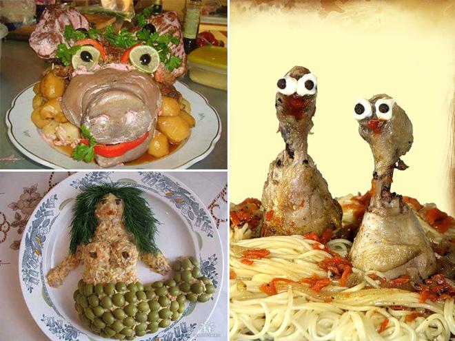 Beautiful Russian food art.