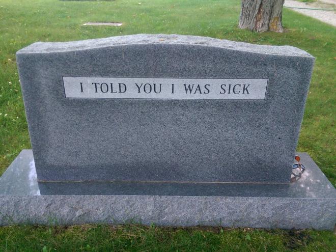 Clever gravestone.