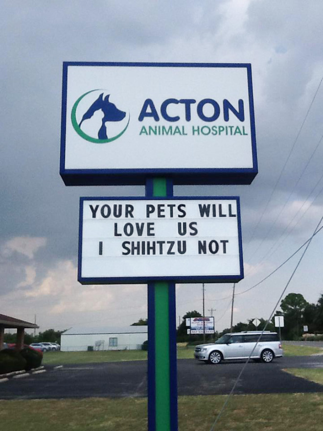 Funny vet sign.