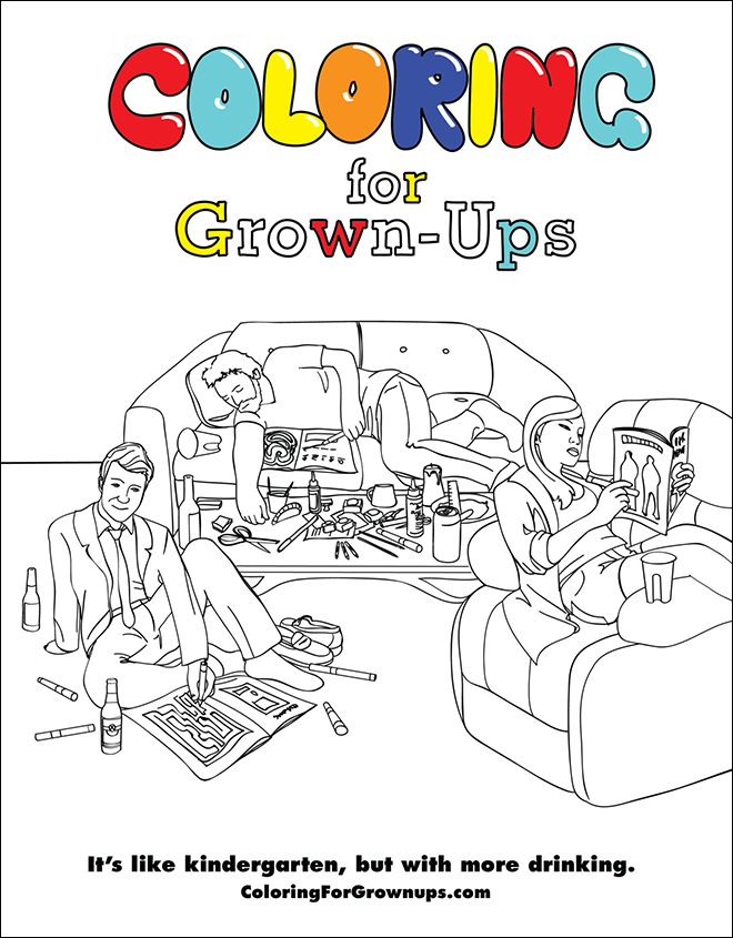 - Coloring Book For Grown-Ups