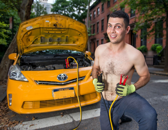 Page from the NYC taxi drivers calendar.