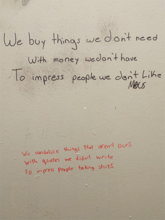 Hilarious Examples Of Toilet Graffiti