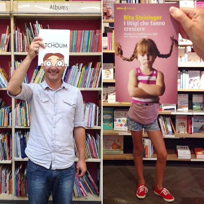When bookstore employee gets bored...