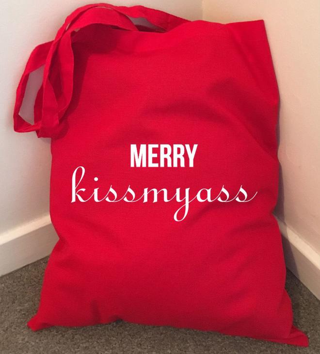 Funny rude shopping bag.