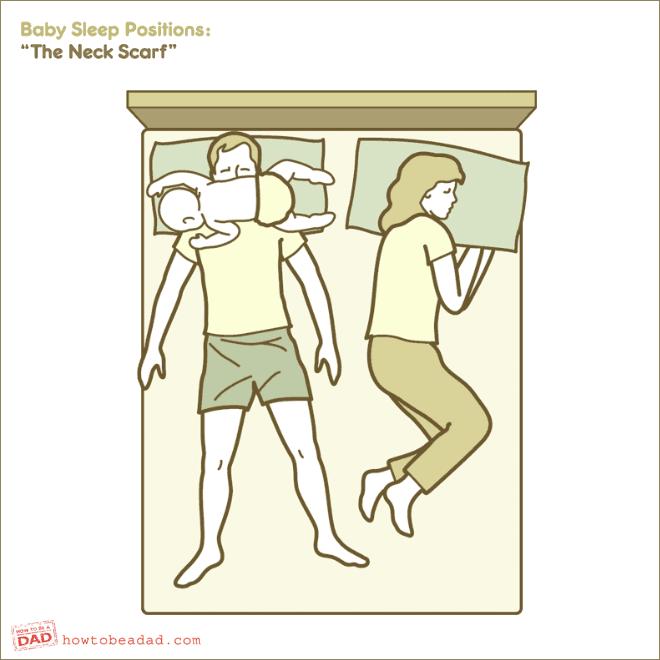 Popular baby sleeping position.