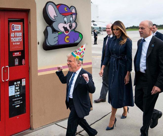 Trump photoshopped as a little kid.