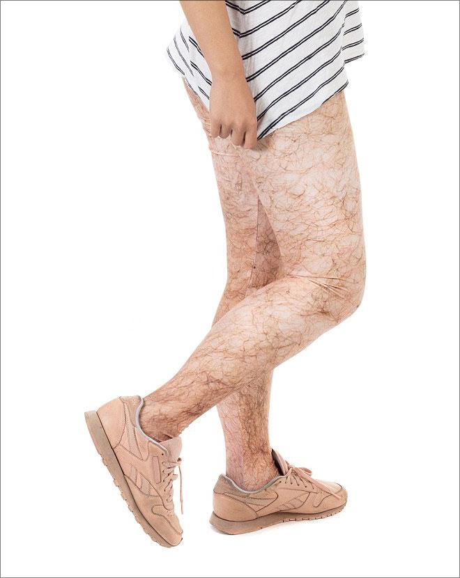 Hairy leggings.