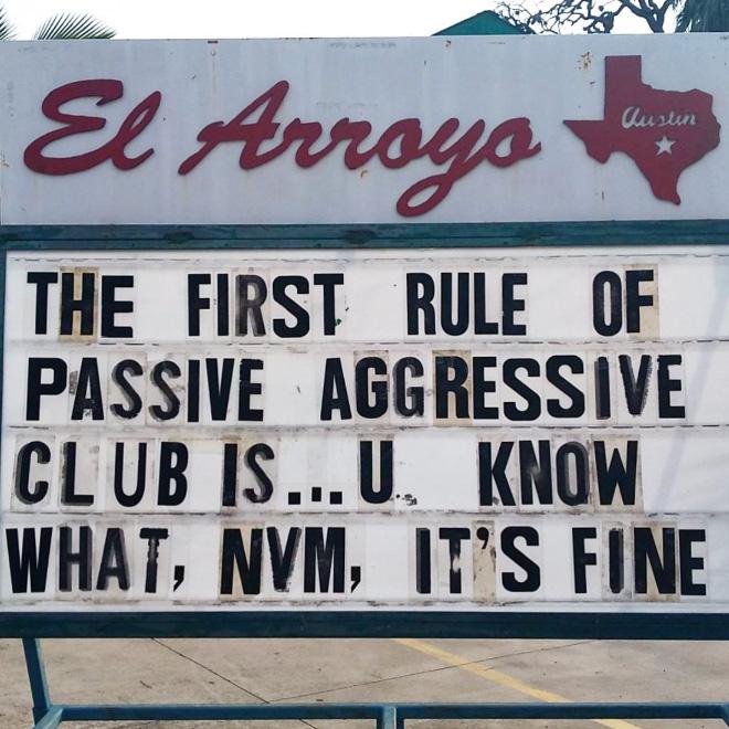 Funny restaurant sign.