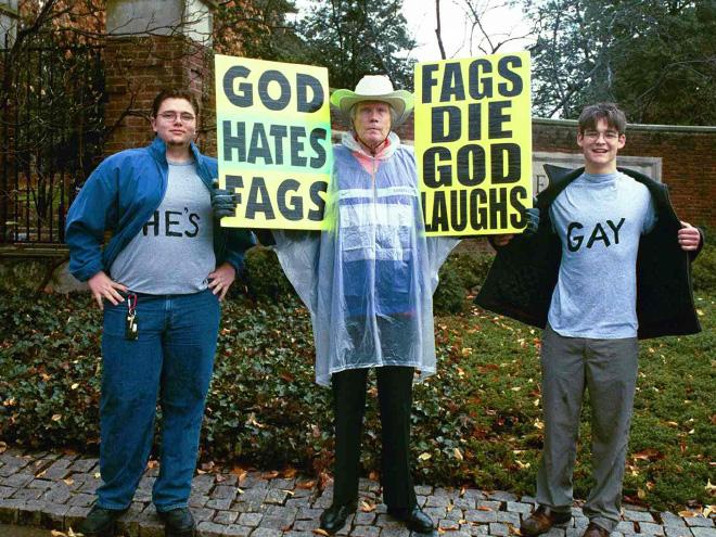 Brilliant protester trolling.