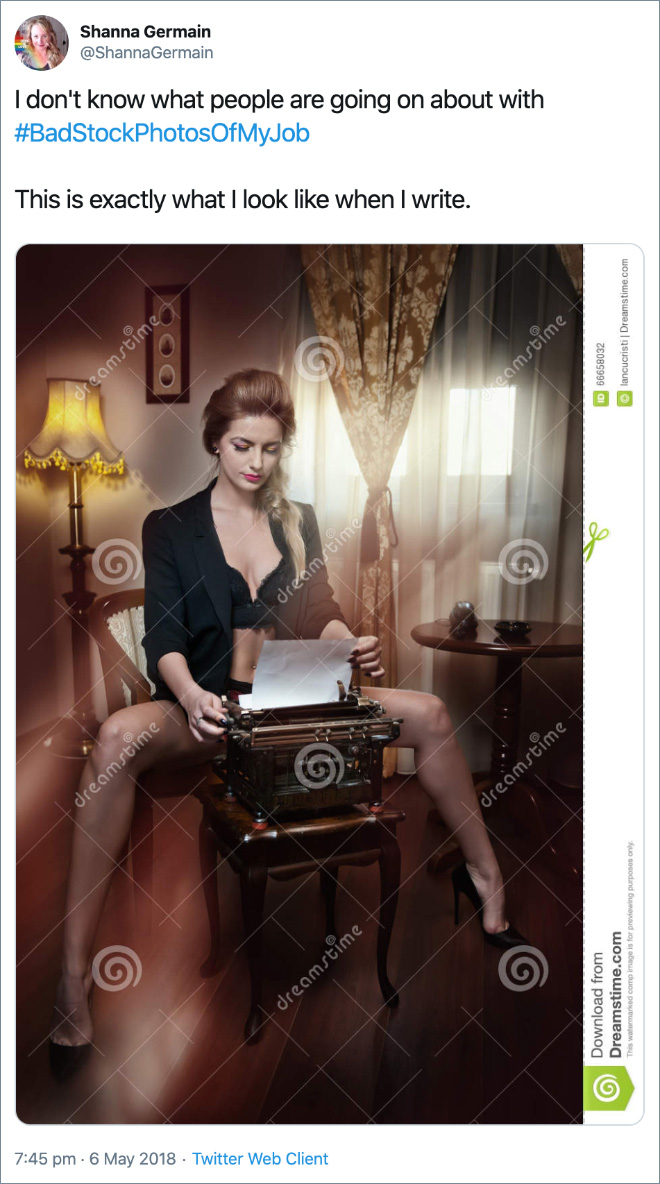 This is exactly what I look like when I write.