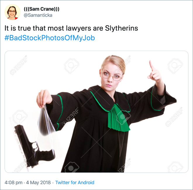 It is true that most lawyers are Slytherins.