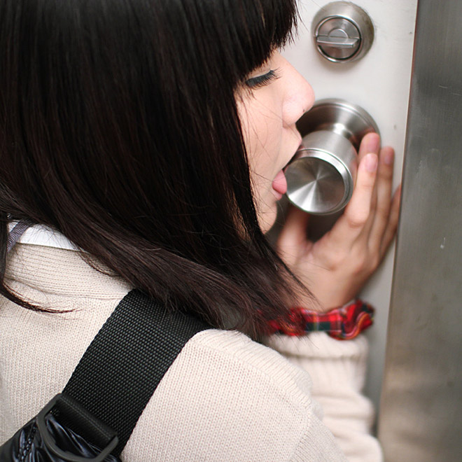So doorknob licking is a thing in Japan...